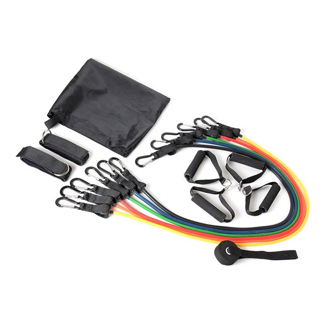 Kinzi Exercise Bands: Element Fitness Resistance Band 14 Pcs Power Pack