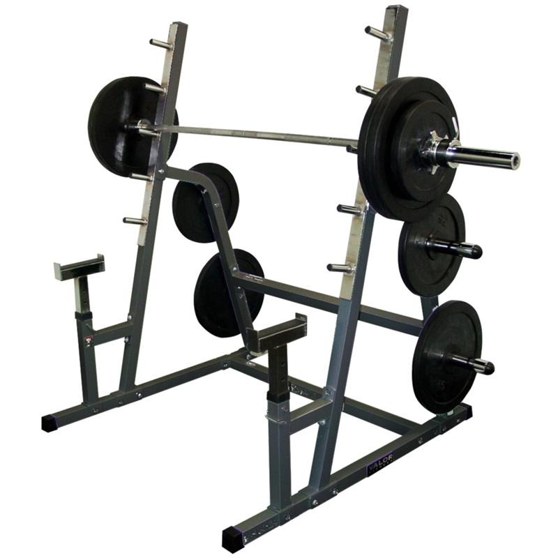 Valor safety squat combo rack with weight pegs for A squat rack