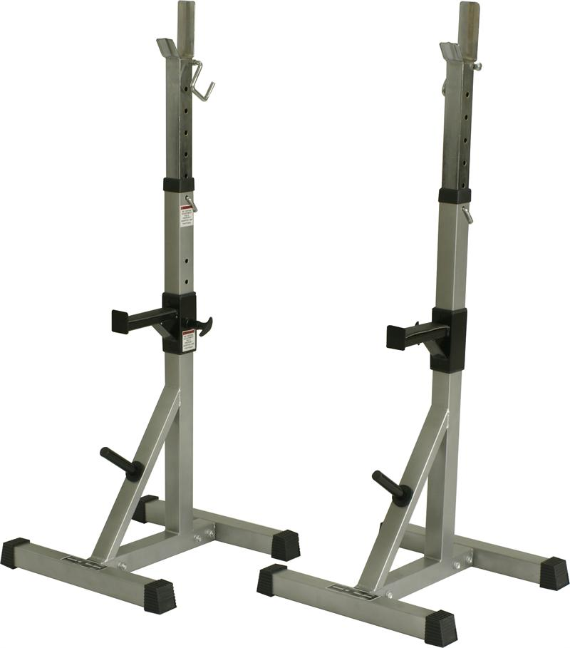 Valor deluxe squat stands with weight pegs for A squat rack