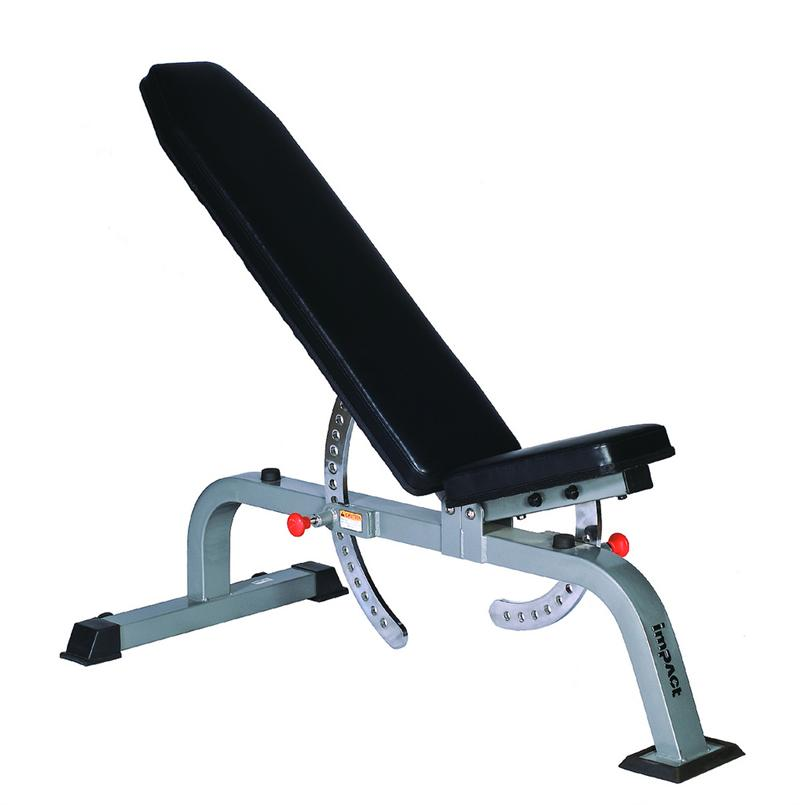 impact elevation series ct2053 adjustable flat incline bench commercial grade