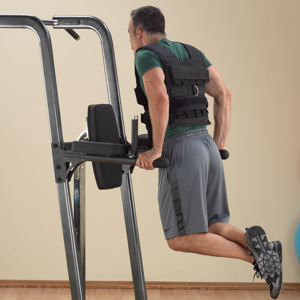 Body Solid Fusion Vertical Knee Raise Dip Pull Up