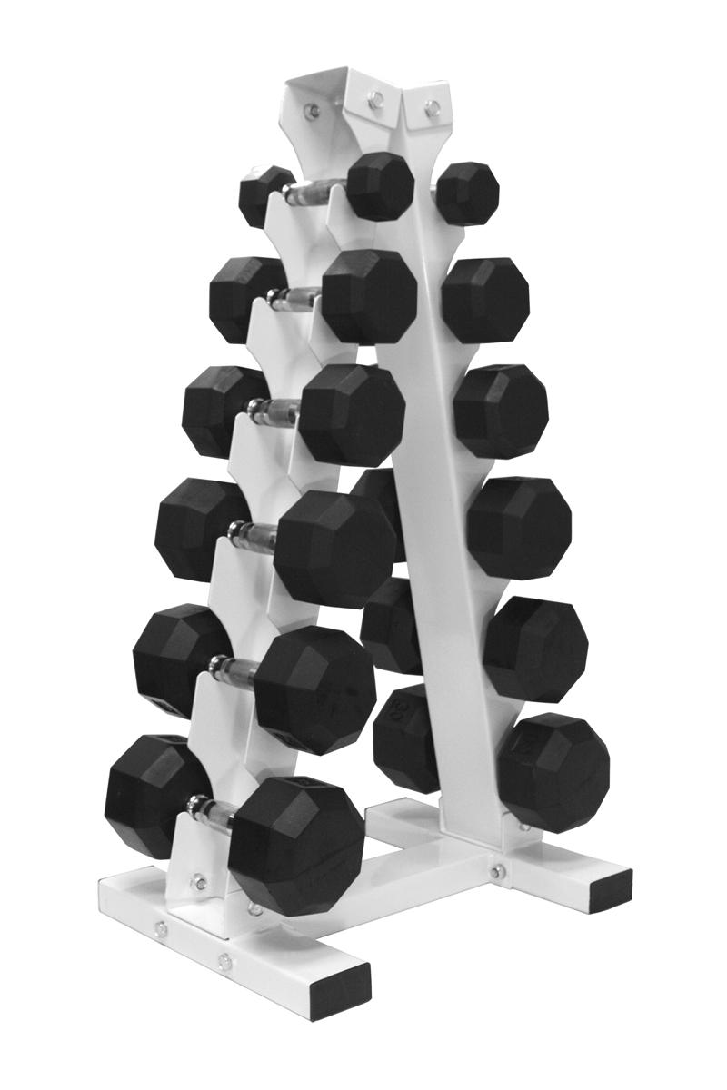 Rubber Hex Dumbbell Package 5 30lb Pairs With Quot A Frame