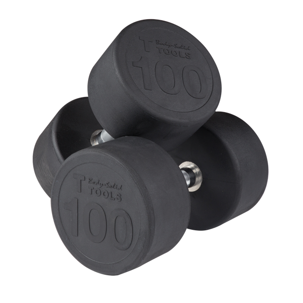 Round Rubber Dumbbell Set