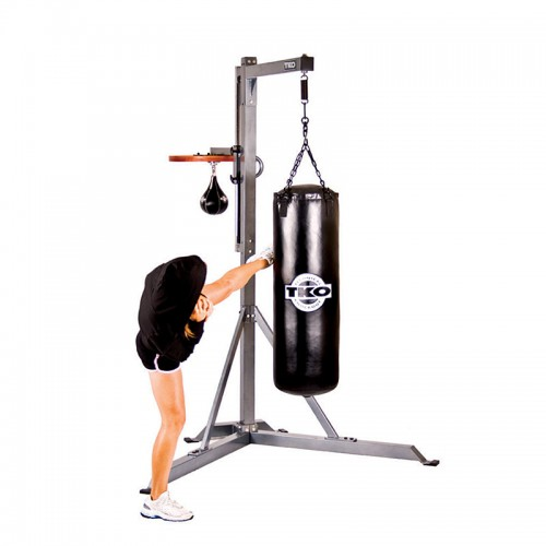 Fight monkey commercial heavy bag stand with speed bag for Stand commercial