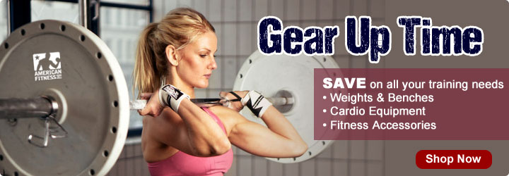 Gear Up Sale - Upgrade gym equipment or outfit a new sports and fitness training facility  - Save on Weight Sets, Power Racks, Cardio Equipment, Weight Benches, and More
