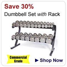 12 Sided Cast Iron Dumbbell Package: 5-50lb Pairs with Storage Rack