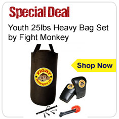 Fight Monkey Youth All Purpose 25lbs Heavy Bag Set Sale