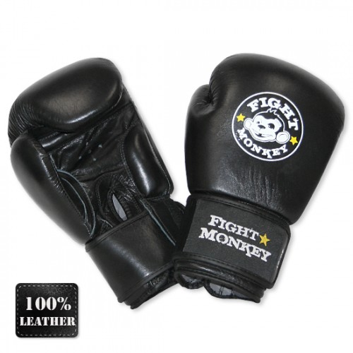 Fight Monkey Boxing/MMA Leather Training Gloves