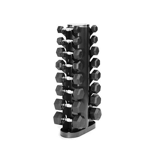 Rubber Hex Dumbbell Package 3 25b Pairs With Vertical