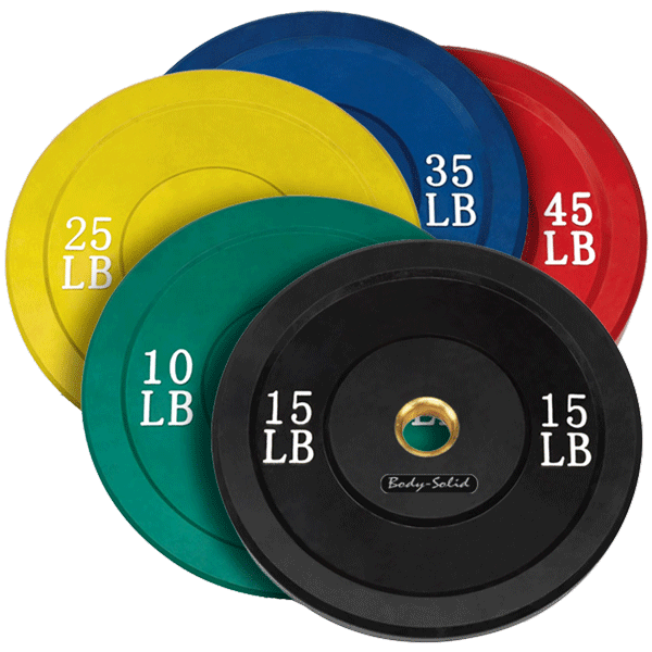 Body Solid Color Rubber Olympic Bumper Plates