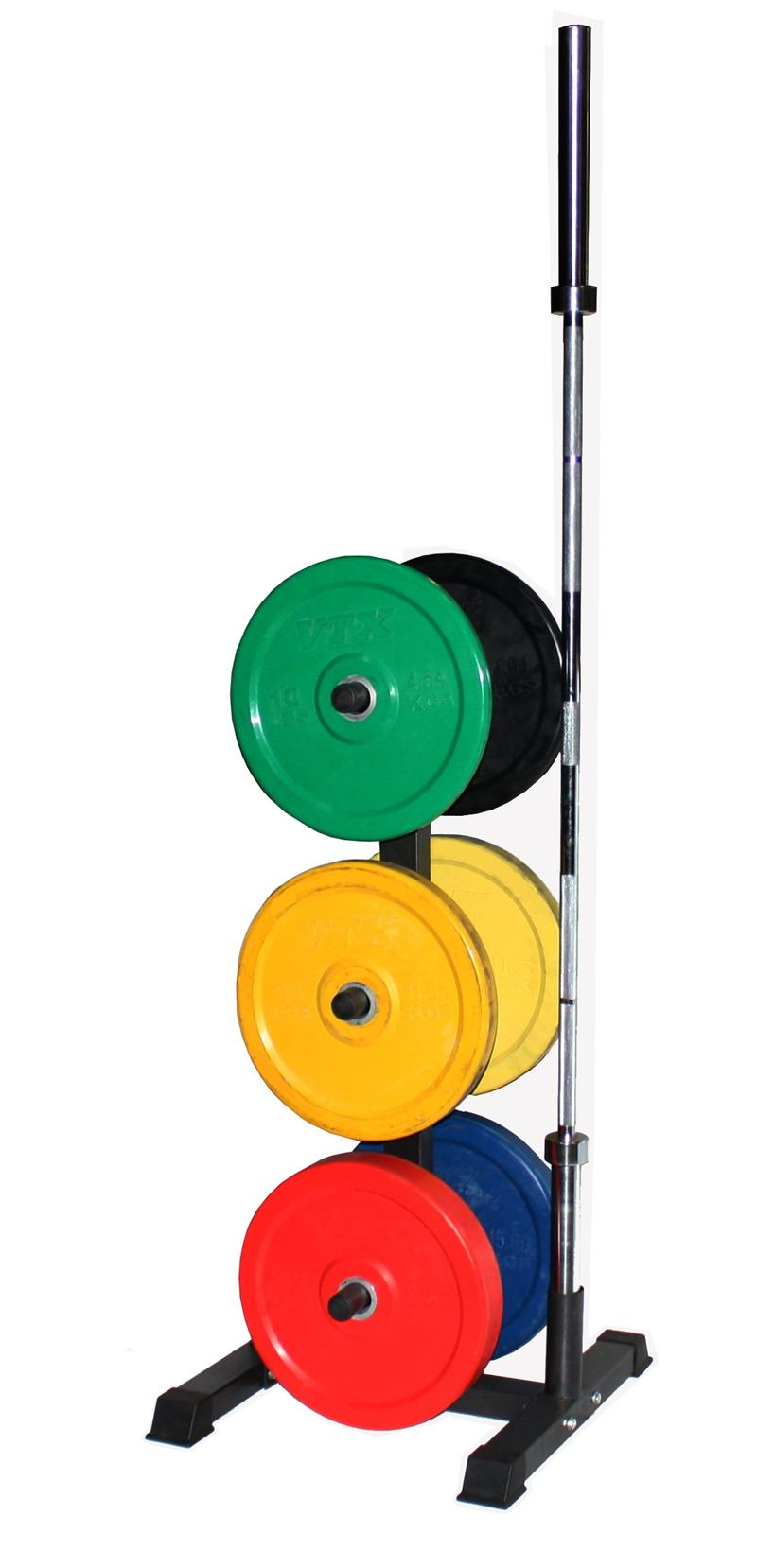 Colored Bumper Plate Package Plates Storage Olympic Bar