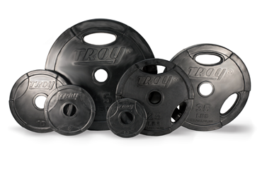 Troy Barbell Rubber Grip Olympic Weight Plate Set