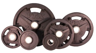 Troy Barbell VTX Rubber Grip Olympic Weight Plate Set