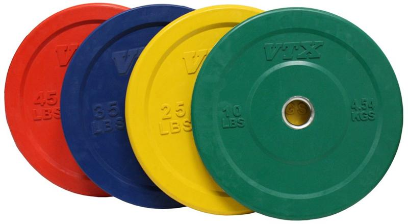 Troy Barbell VTX Solid Rubber Bumper Plate Set