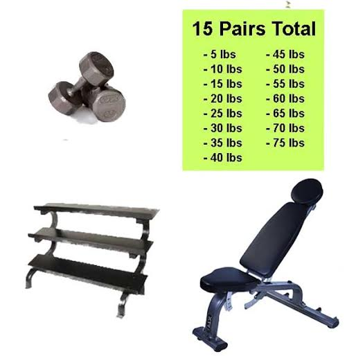 12 Sided Cast Ironn Dumbbell Package