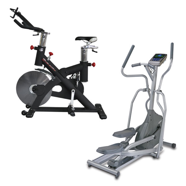 Exercise Bike and Elliptical Cross Trainer