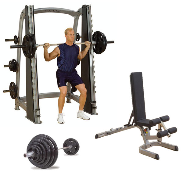 Body-Solid Smith Machine Package