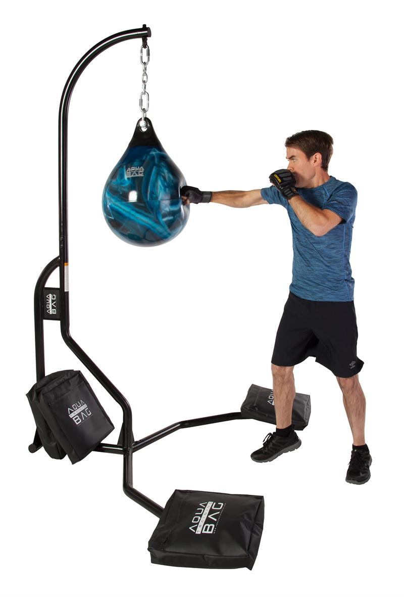 Aqua Punching Bag Stand Loaded