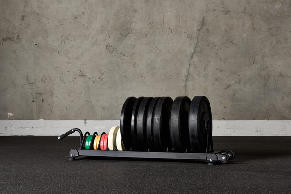 American Barbell Horizontal Rolling Bumper Storage Made