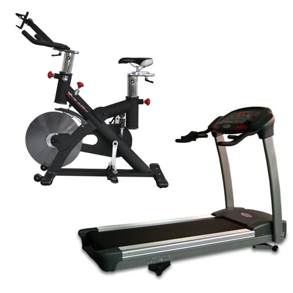 4fd9ccacbe88f Cardio Package - Treadmill and Exercise Bike (T60 plus Velocity) -  Commercial Grade