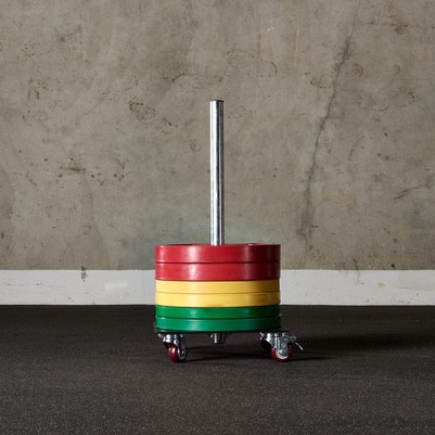 Rolling Bumper Plate Storage
